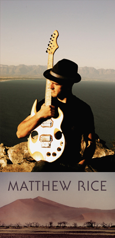 Matthew Rice with his personal handbuilt electric guitar