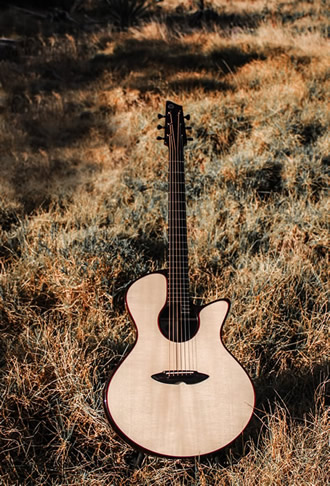 Hand built steel string acoustic guitar